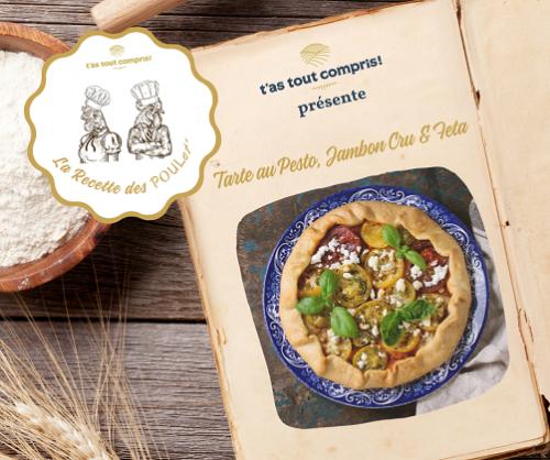 Recette de Tarte au Pesto vert, Jambon Cru & Feta